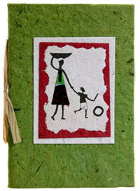 One of the handmade cards we source from Uganda