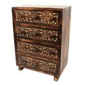 Cabinet 4 drawer wood 35x25x15cm