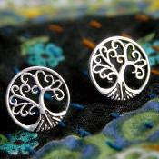 Ear studs, tree of life