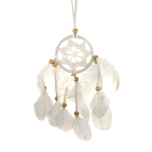 Dreamcatcher white crochet 6cm