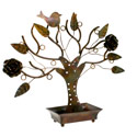Jewellery tree, rose and birds