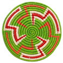 Raffia placemat, lime base, 30cm