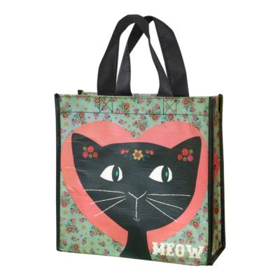 Gift bag made from recycled plastic bottles, Meow