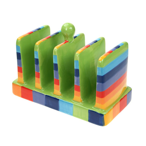 Rainbow toast rack **
