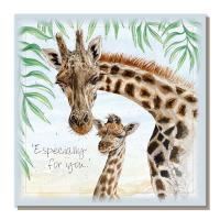 "Greetings card, ""Especially for you"", Giraffes"