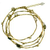 Bracelet wound gold colour wire