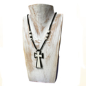 Cow bone necklace cross