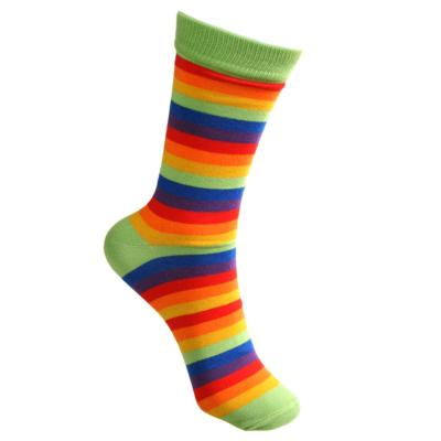Bamboo socks, stripes rainbow, Shoe size: UK 7-11, Euro 41-47