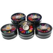 Mixed incense cones in round box