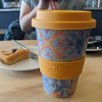 Reusable travel cup, biodegradable, tiles - Marrakesh