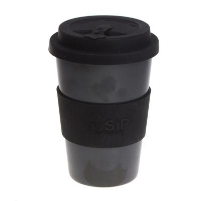 Rice husk cup 14oz, charcoal