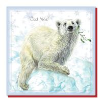 Christmas card, polar bear