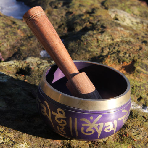 Singing bowl purple 250g