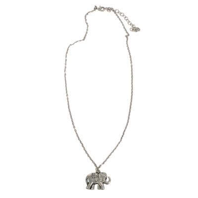 Necklace elephant on chain