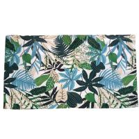 Rug indoor or outdoor, recycled plastic 90 x 150cm leaves