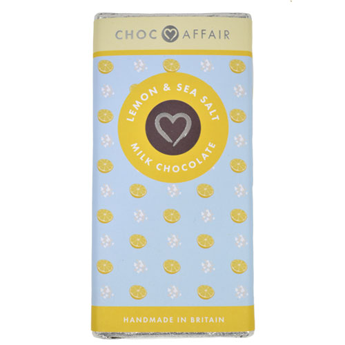 Lemon & sea salt milk chocolate bar