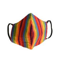 Face covering PeoplesMask, rainbow colours, large 23x17cm