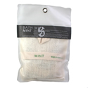 Bath/shower mitt jute bag, mint