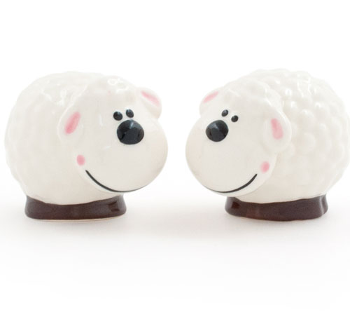 White Sheep Salt & Pepper Shakers **