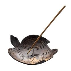 Coconut incense holder turtle
