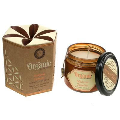 Soy candle Organic Goodness, Madurai Jasmine, in glass jar