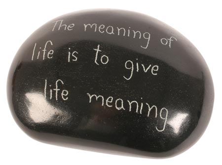 "Paperweight ""Meaning of life"""