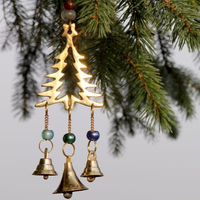 Brass chime Christmas tree