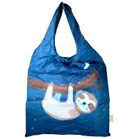 Shopping bag, recycled plastic bottles, sloth design