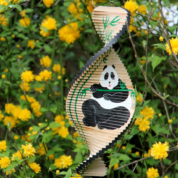 Wind spinner, wood, panda 40cm
