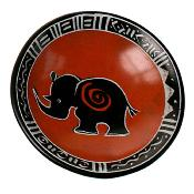 Kisii stone small bowl 10cm, rhino orange background