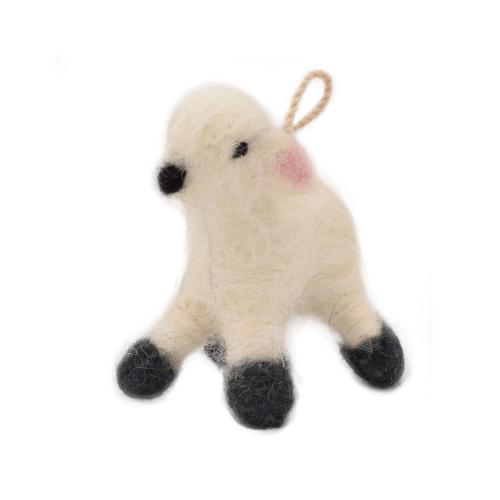 Hanging decoration, felt sheep