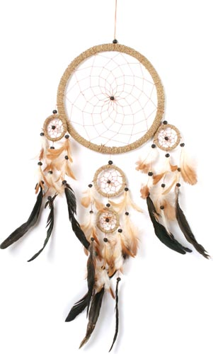 Dreamcatcher natural 20cm and 4 small