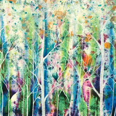 "Greetings card ""Crystal Glade"" 16x16cm"