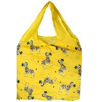 Shopping bag, recycled plastic bottles, zebra design