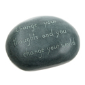 Paperweight, palewa stone, Change your thoughts...