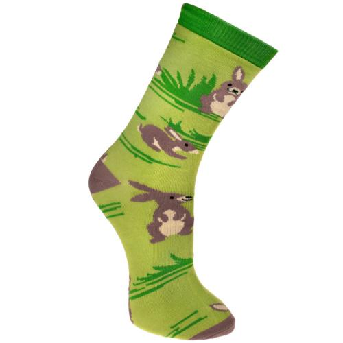 Bamboo socks, rabbits, Shoe size: UK 7-11, Euro 41-47