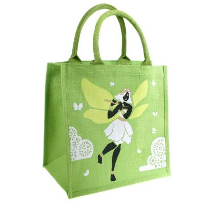 Jute shopping bag, square, fairy