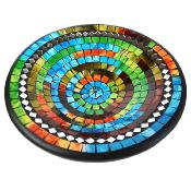 Bowl, mosaic, 28cm multicolour with mirrors