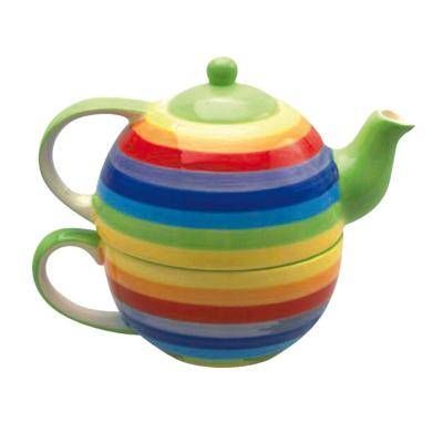 Rainbow Cup & Teapot Set **