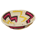 Raffia fruit basket, white base, 24cm