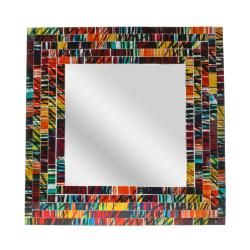 Mirror square with mosaic surround 30cm