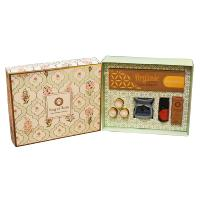 Meditation / Pooja Organic Goodness Gift Box - Incense Cones, Burner, T Lights, Oil