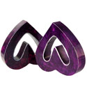 Bookends heart purple