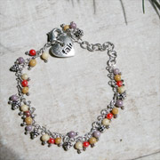 Bracelet, beads with heart