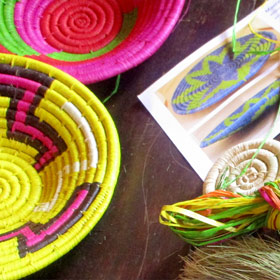 Raffia Baskets & Tableware