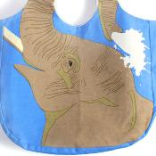 Shoulder bag, cotton, elephant