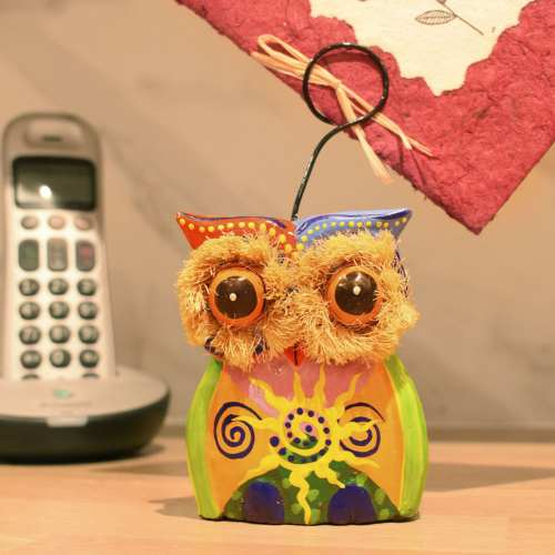 Card/photograph holder owl