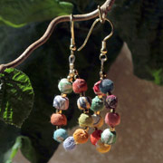 Earrings recycled cotton balls