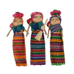 Single worry doll mother and baby magnet