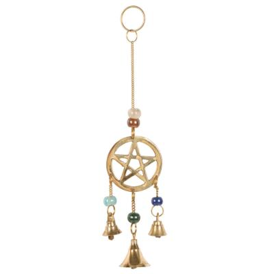 Brass chime mini pentagram